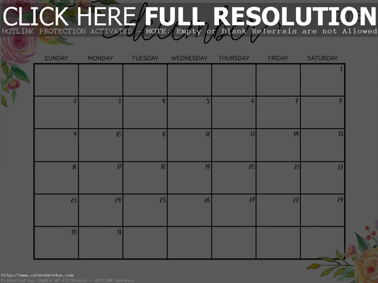 December 2018 Calendar Cute
