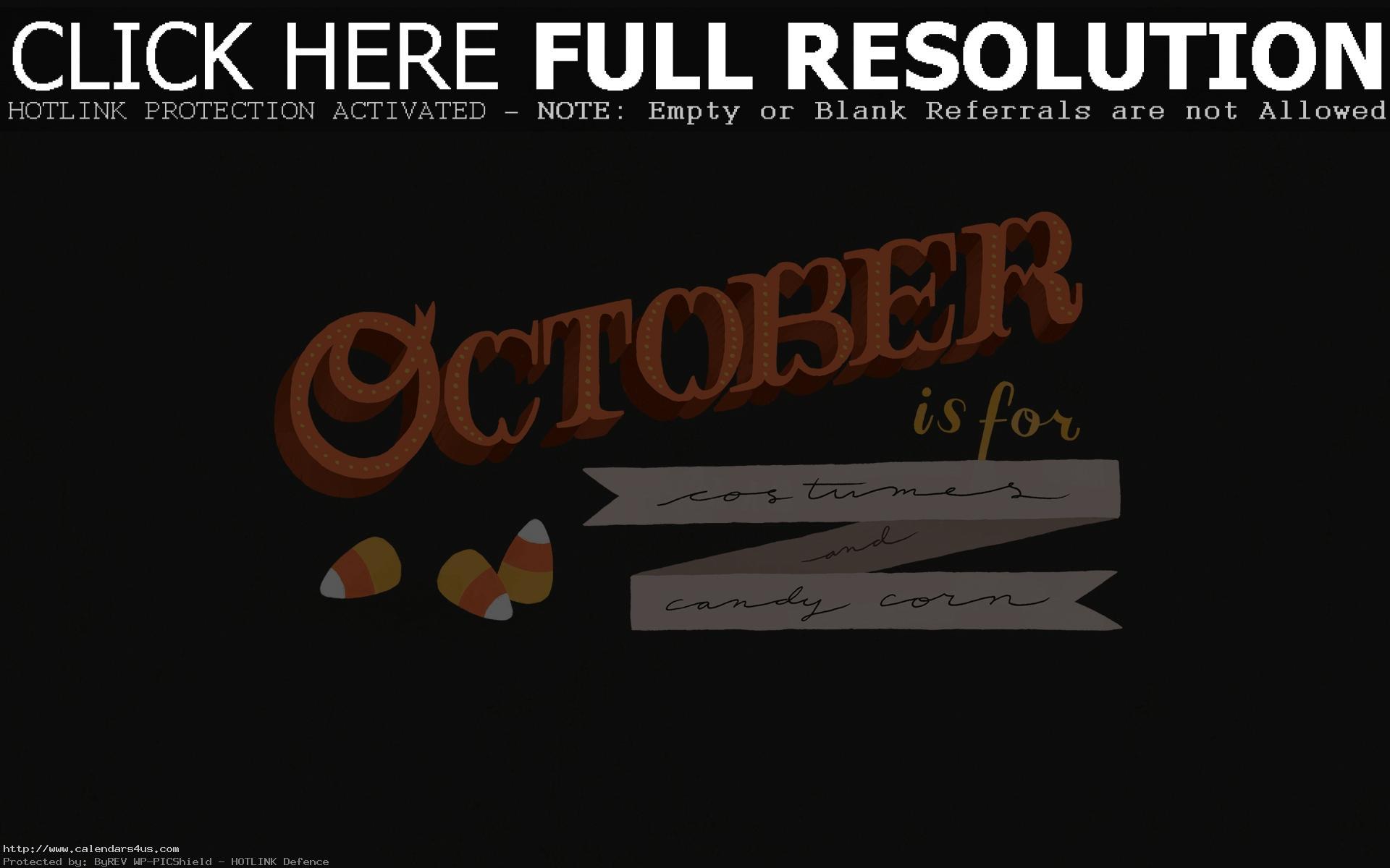 October Wallpapers Tumblr Free Printable Calendar Blank