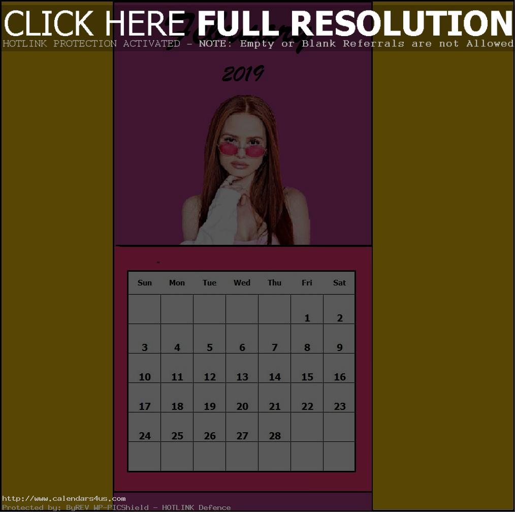 February 2019 Blank Edit Calendar