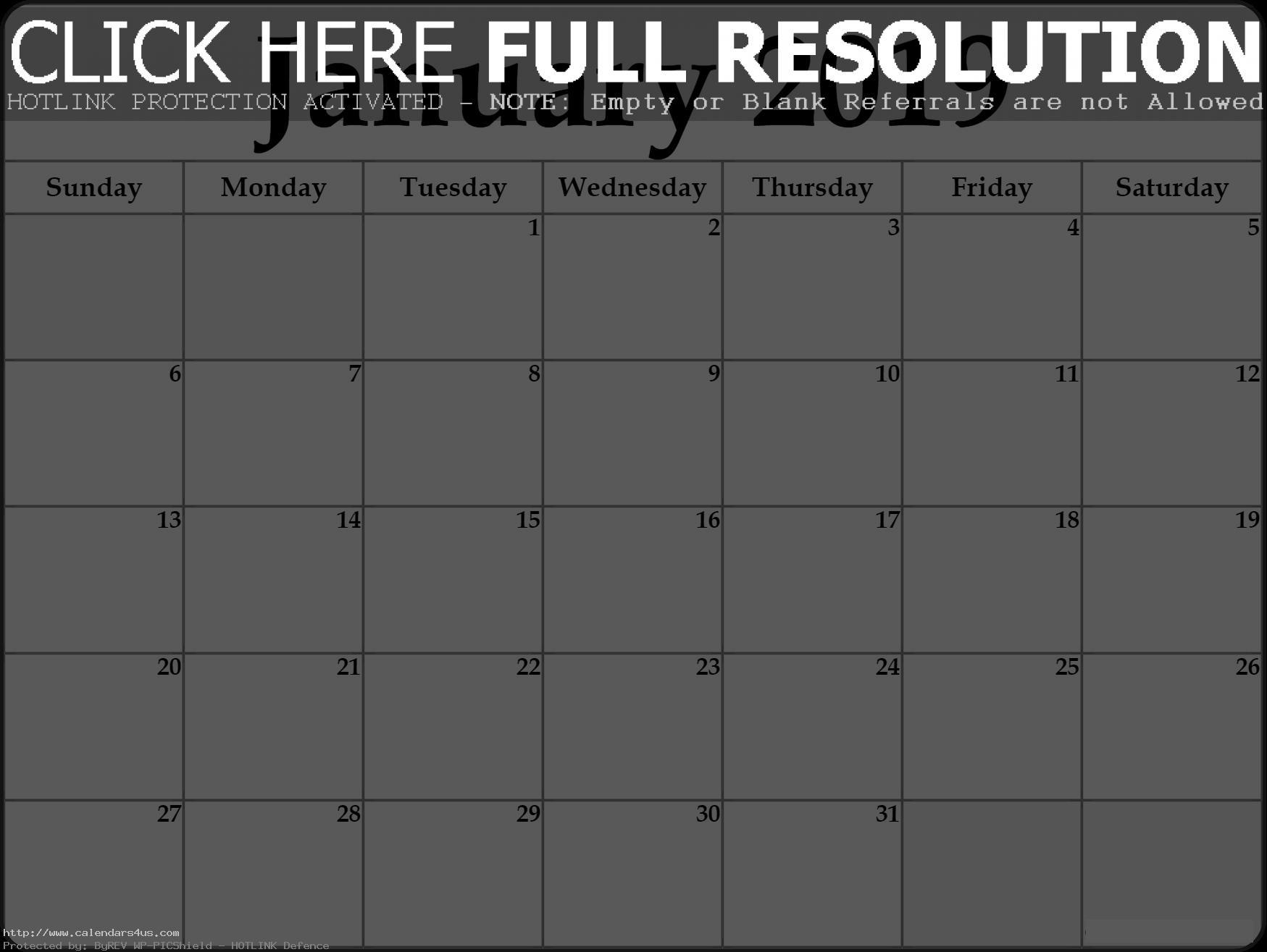 Monthly January 2019 Calendar Tamil